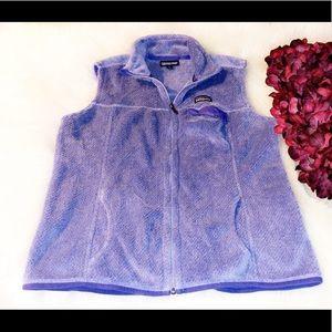 PATAGONIA Purple Fleece Zip Vest